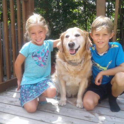 Mischa with Ryder, Rylee