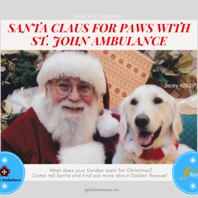 Santa Claus for Paws with St. John Ambulance