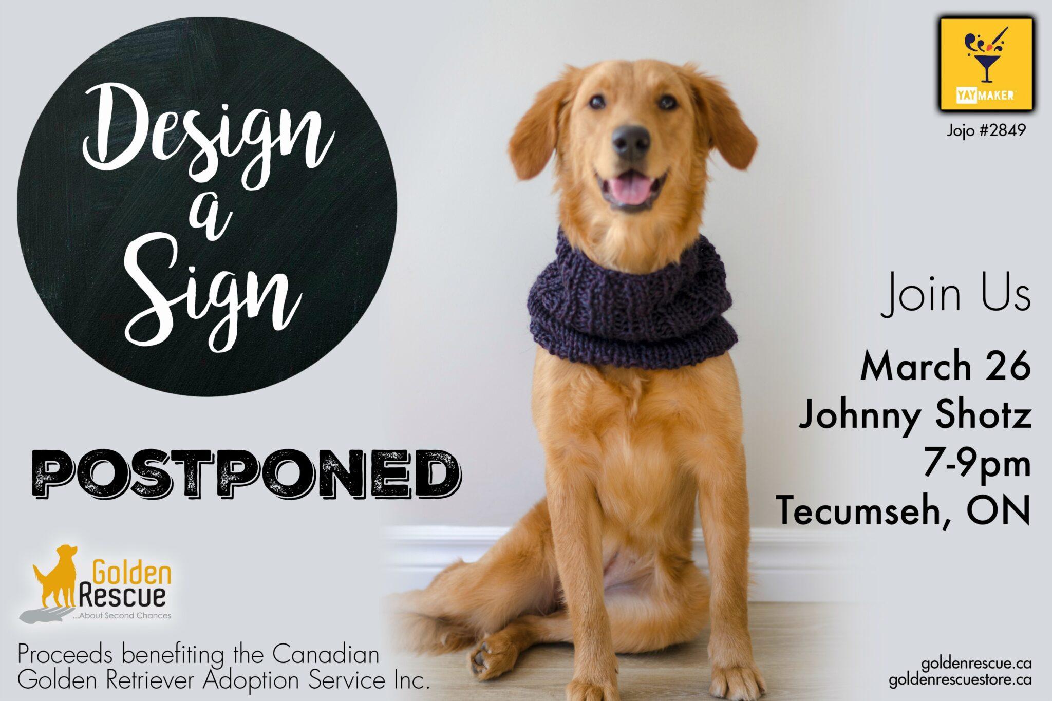 Design a Sign Event ~ Windsor – POSTPONED